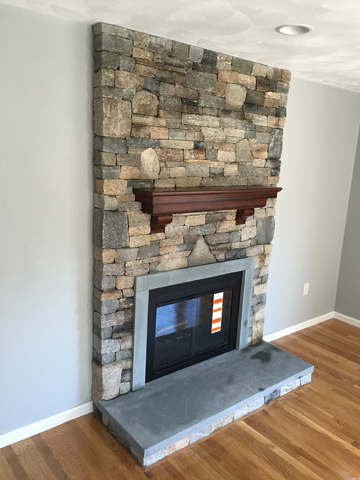Andover MA fireplace facelift fireplace makeover