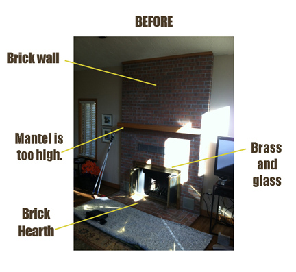fireplace facelift andover MA stone fireplace
