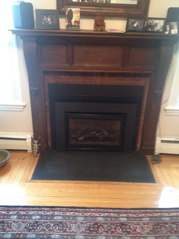 Danvers MA fireplace hearth stone replacement 1 piece