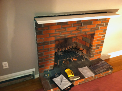how to renovate a fireplace using stone veneer