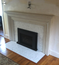 fireplace cast stone fireplace redesign