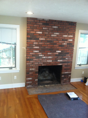Needham MA fireplace facelifter complete with custom wood work
