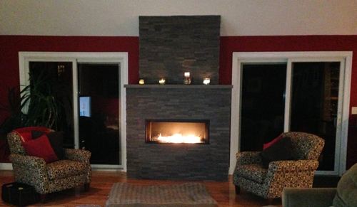Gas Fireplace with RealStone