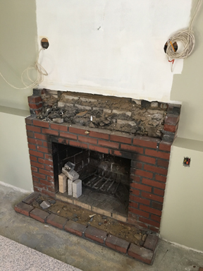 Stoneham MA fireplace facelift fireplace makeover