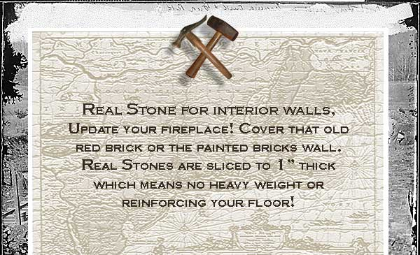 Real Stone Inside walls